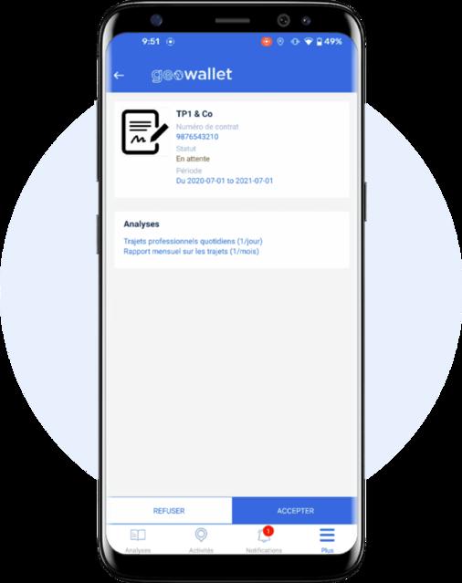 contrat app mobile